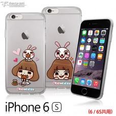 Apple iPhone 6/6s  香菇妹&拉比豆 超薄TPU透明軟殼套