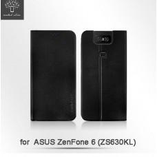 ASUS ZenFone 6(ZS630KL) 高仿小牛皮TPU站立皮套
