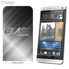 HTC ONE M7  9H弧邊耐磨防指紋鋼化玻璃保護貼