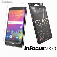 InFocus M370 9H弧邊耐磨防指紋鋼化玻璃保護貼