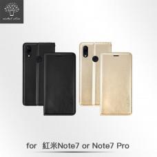 紅米 Note 7/Note 7 Pro 高仿小牛皮TPU站立皮套