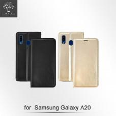 Samsung Galaxy A20 高仿小牛皮TPU站立皮套