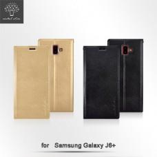Samsung Galaxy J6+ 時尚立架皮套