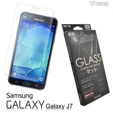 Samsung Galaxy J7  9H弧邊耐磨防指紋鋼化玻璃保護貼