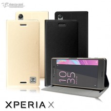 Sony Xperia X 超薄細紋質感立架皮套